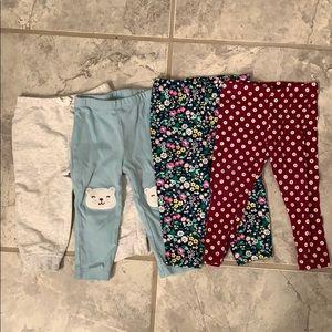4 bundle pants 12 month baby girl